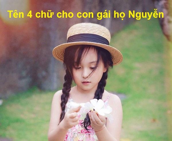 Hướng dẫn cách đặt tên 4 chữ cho con gái họ Nguyễn