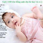 Đặt tên tiếng Anh cho bé gái: gợi ý 100 tên cực cute & độc