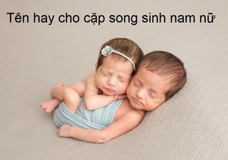 Đặt tên cho cặp sinh đôi trai gái cùng tên chính