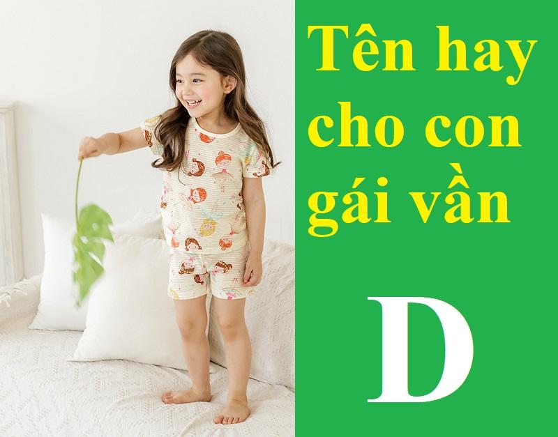 Gợi ý những tên hay cho con gái vần D. Tên đẹp cho bé gái bắt đầu bằng chữ D