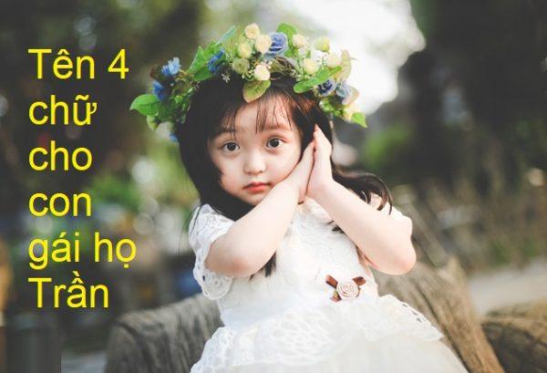 Tên hay 4 chữ cho con gái họ Trần
