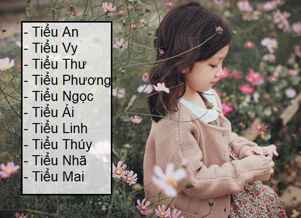 Đặt tên con gái lót chữ Tiểu, đặt tên con gái đệm chữ Tiểu