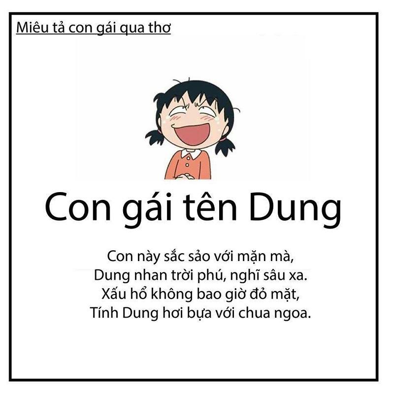 Tên Dung có ý nghĩa gì?