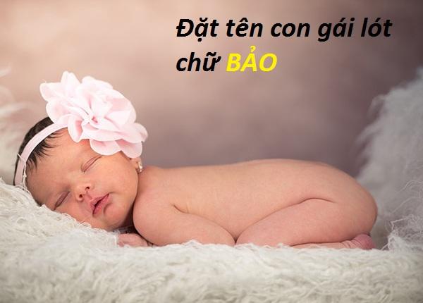 Tên con gái lót chữ Bảo, tên đệm Bảo cho con gái