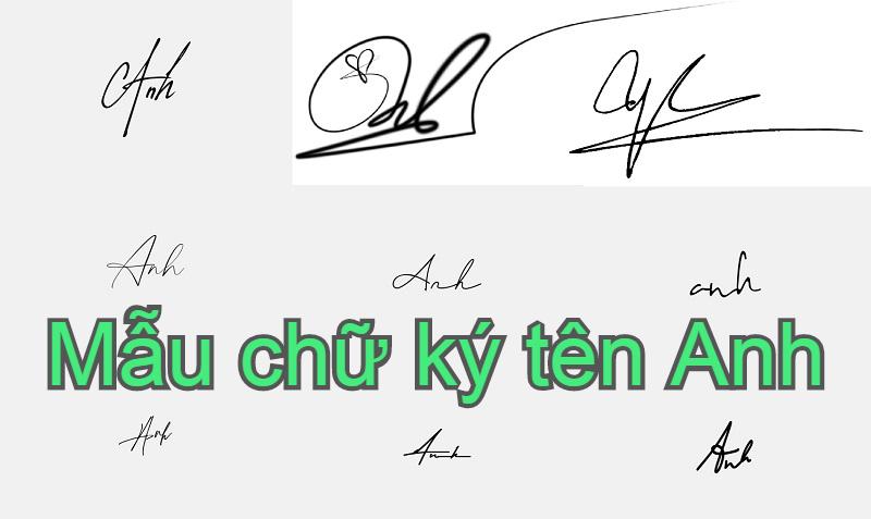 Mẫu chữ ký tên Anh đẹp nhất