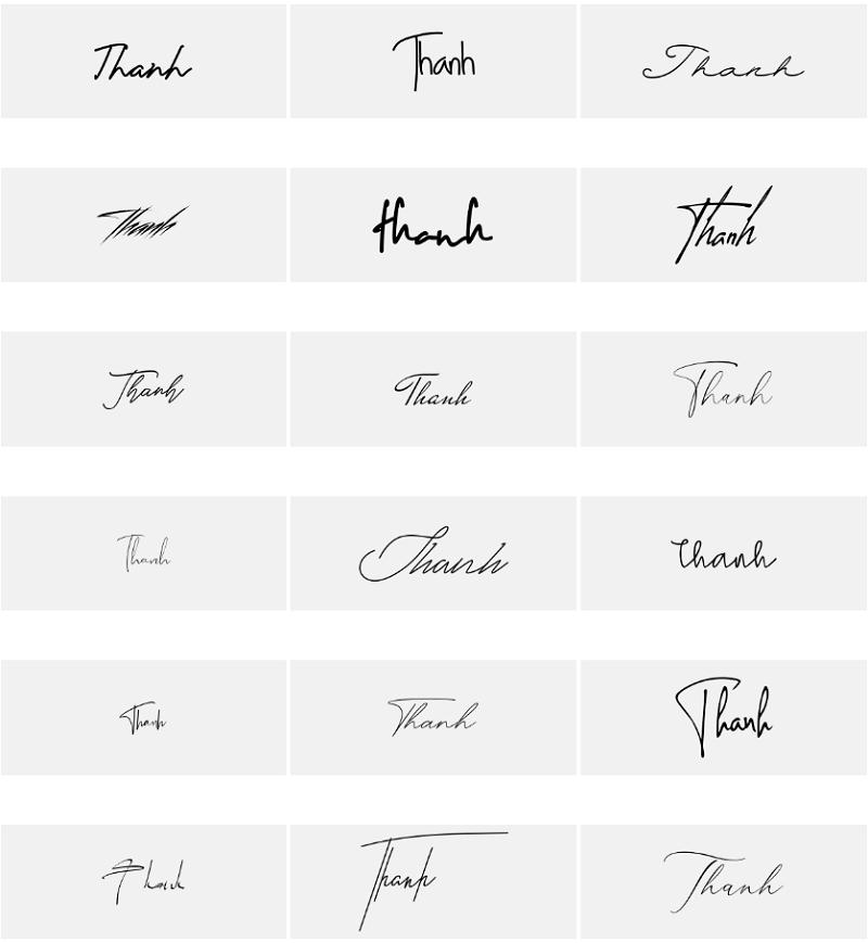 Mẫu chữ ký tên Thanh đẹp nhất
