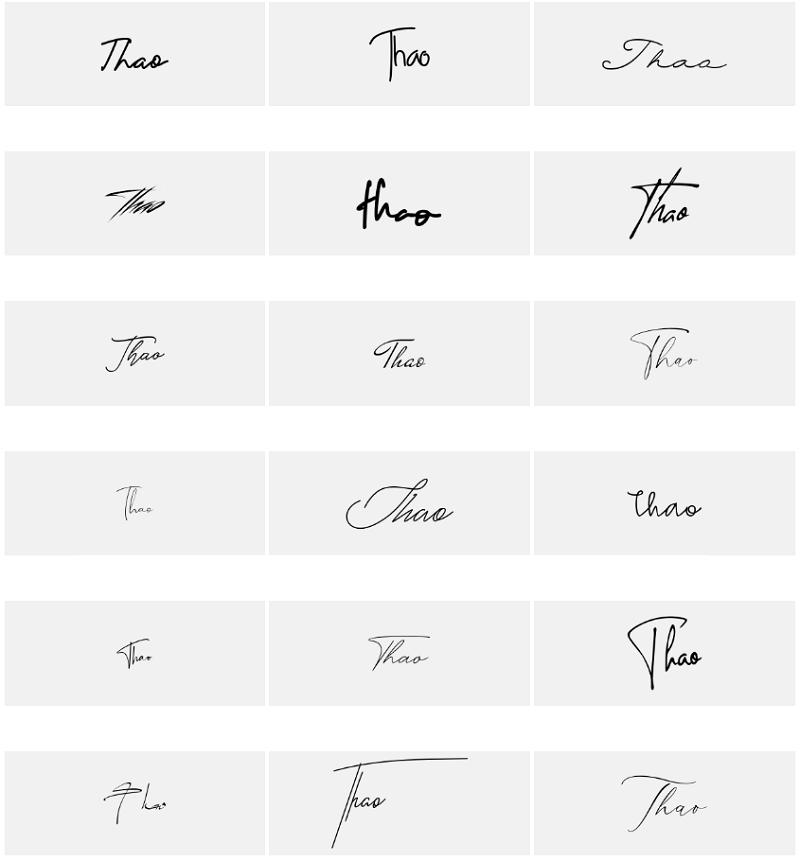 Mẫu chữ ký tên Thảo đẹp nhất