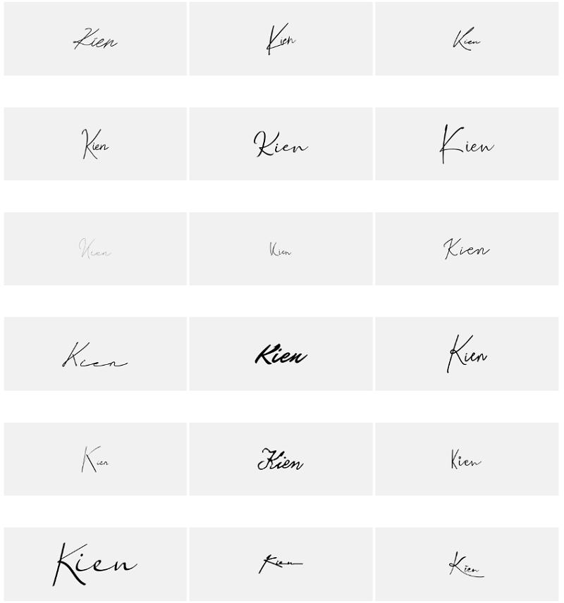 Mẫu chữ ký tên Kiên đẹp, độc đáo