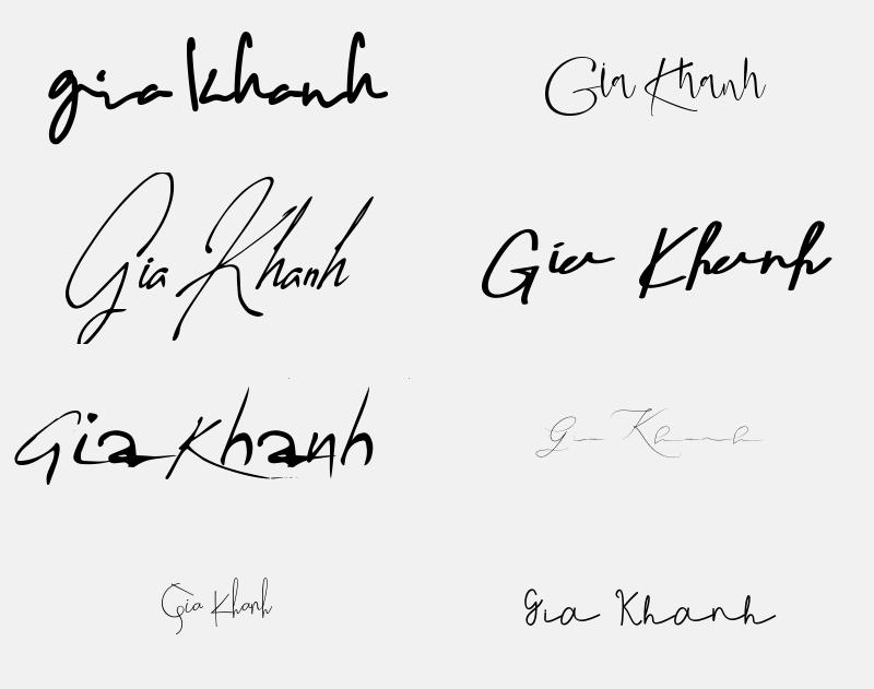 Mẫu chữ ký đẹp cho tên Gia Khánh. Tên Gia Khánh có ý nghĩa gì?