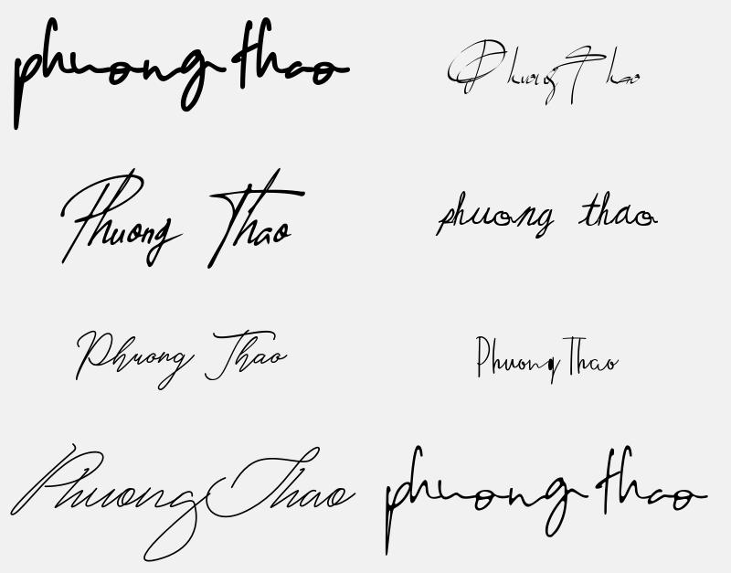 Mẫu chữ ký tên Phương Thảo đẹp nhất