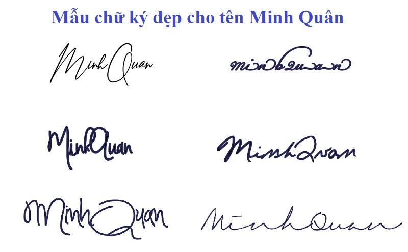 Gợi ý mẫu chữ ký đẹp cho tên Minh Quân. Ý nghĩa tên Minh Quân là gì?