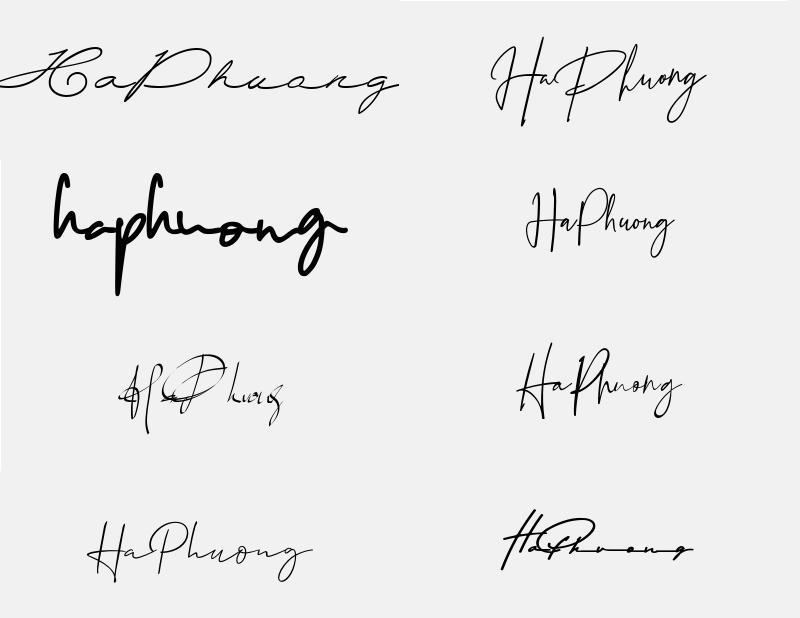 Mẫu chữ ký đẹp cho tên Hà Phương. Tên Hà Phương có ý nghĩa gì?