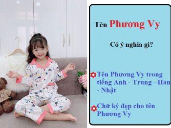 Tên Phương Vy có ý nghĩa gì? Tên Phương Vy trong tiếng Anh, Trung, Hàn, Nhật