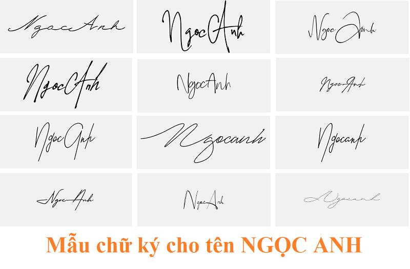Ý nghĩa tên Ngọc Anh, chữ ký đẹp tên Ngọc Anh