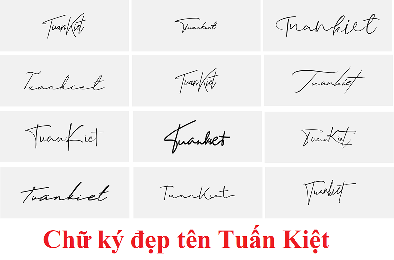 Ý nghĩa tên Tuấn Kiệt, chữ ký tên Tuấn Kiệt