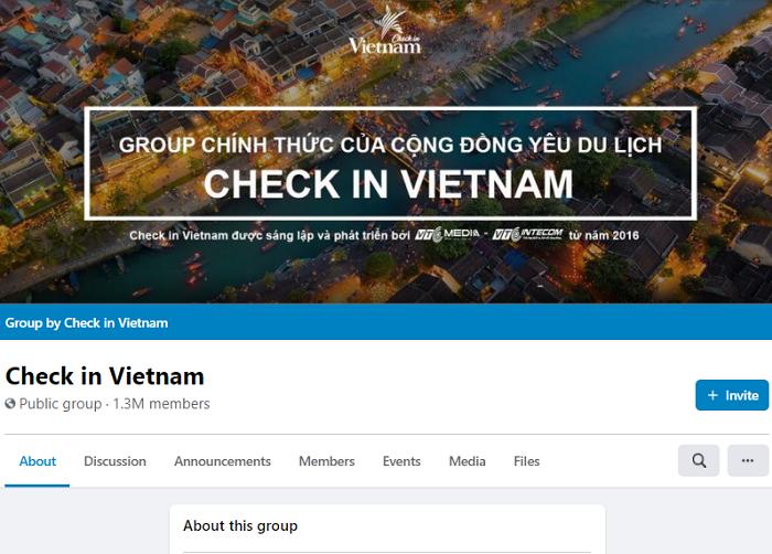 Các group nổi tiếng trên facebook, group check in Vietnam